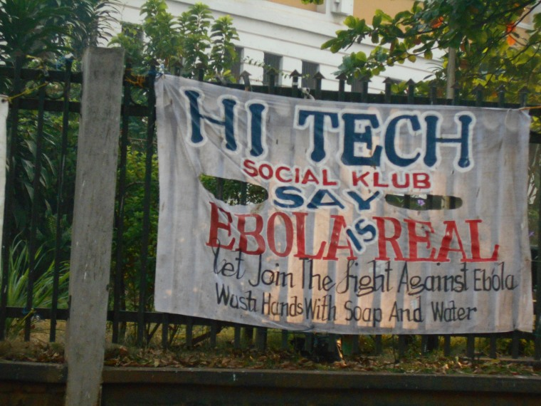 "Hand-lettered sign in Sierra Leone that reads ""Elobla is Real"""